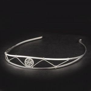 ободок из серебра с оберегом Одолень-трава